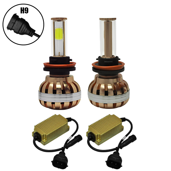 LED HID KIT H9 45 Watt 4500 Lumen 9-32 Volt DC 6000k